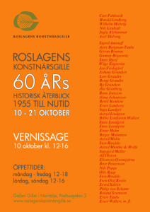 Gillet 60 års fest affisch