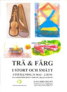 TRÄ o FÄRG ny affisch 2016
